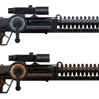 Side by side comparison of YCS/186 and the standard Gauss rifle