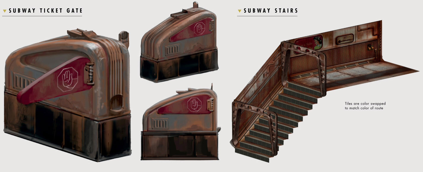 What is subway tile wiki tile designs image the art of fallout 4 subway ticket gate png wiki dailygadgetfo Gallery