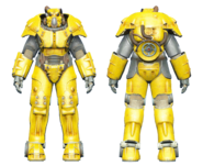 FO4CC X-01 power armor yellow