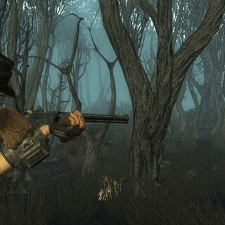 A scrapper in combat with the player