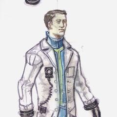 Vault lab uniform concept art by <a class=