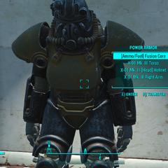 X-01 power armor visual bug