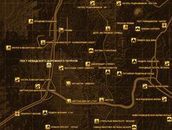 FNV Карта ПОСТ НЕВАДСКОГО ДОРОЖНОГО ПАТРУЛЯ