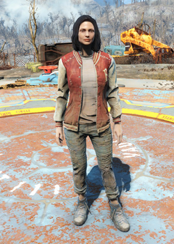 Fo4Letterman's Jacket and Jeans