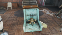 Vault 75 teddybear in chair