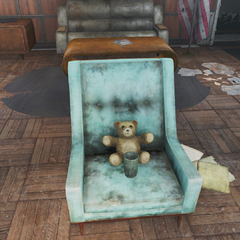 Teddybear in the chair