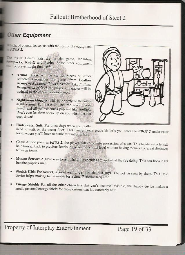 Image FOBOS Design Document Jpg Fallout Wiki FANDOM - Character design document