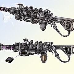 Plasma rifle concept art by <a class=