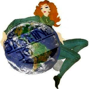 Saint Pain' AKA Casper's image Re work. It's Mz JJ's world & the moon at her heal