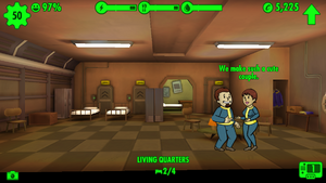 Fallout Shelter living room