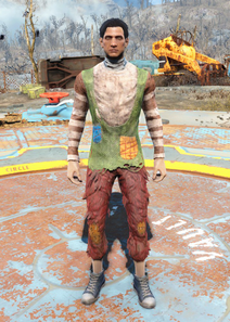 Fo4 Patchwork Sweater and Furry Pants