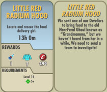 FoS Little Red Radium Hood card