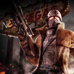 High detailed pic of an NCR Ranger in the Black armor