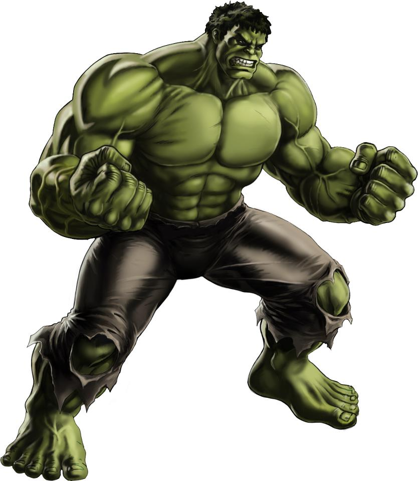 It is a photo of Handy Images of Hulk
