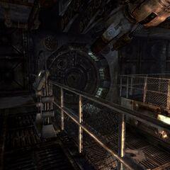 Inside of the vault door