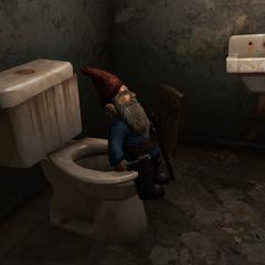 В туалеті включена