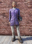 FO76 Skiing Purple and White Outfit