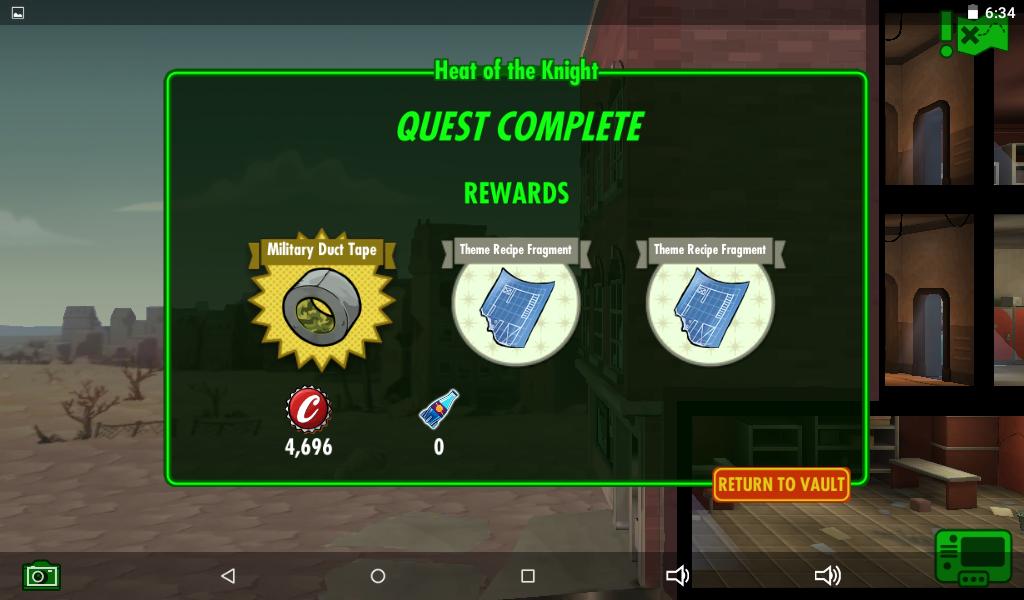 Heat Of The Knight Rewards