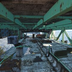 Gunner encampment located inside one of the overpasses
