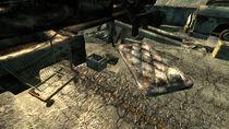 Abandoned car fort Tales of a Junktown Jerky Vendor
