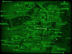 FO4 Разрушенный небоскрёб (карта мира)