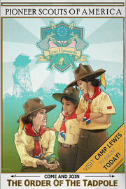 FO76WA Pioneer Scouts Tadpole poster
