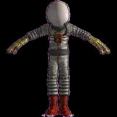 Alien with spacesuit and helmet