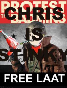 Chris is stinky