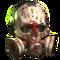 FO76LR Raider Gas Mask White