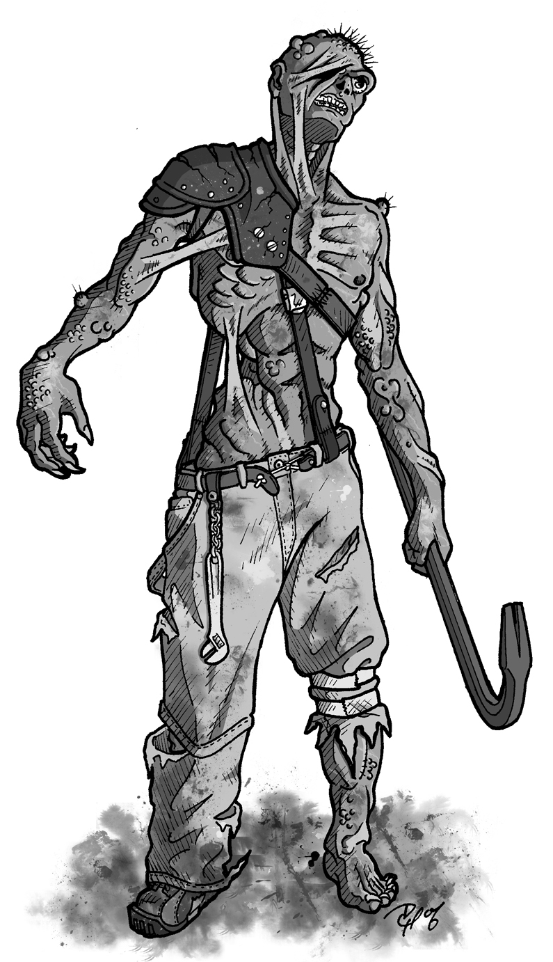 Fallout d20 ghoul by Tensen01