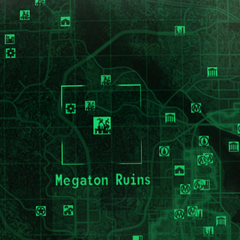 Change of the map marker name to Megaton Ruins