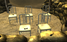 Authority glasses sandbag shelter