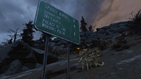FO76 Road sign Palace etc