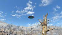 Over the moon alien ship