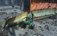 FO4 Wastelander at Big John's salvage
