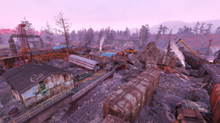 FO76 Flooded trainyard