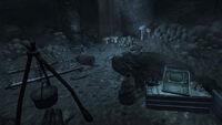 Survivalist hidden cache Fallen Rock cave