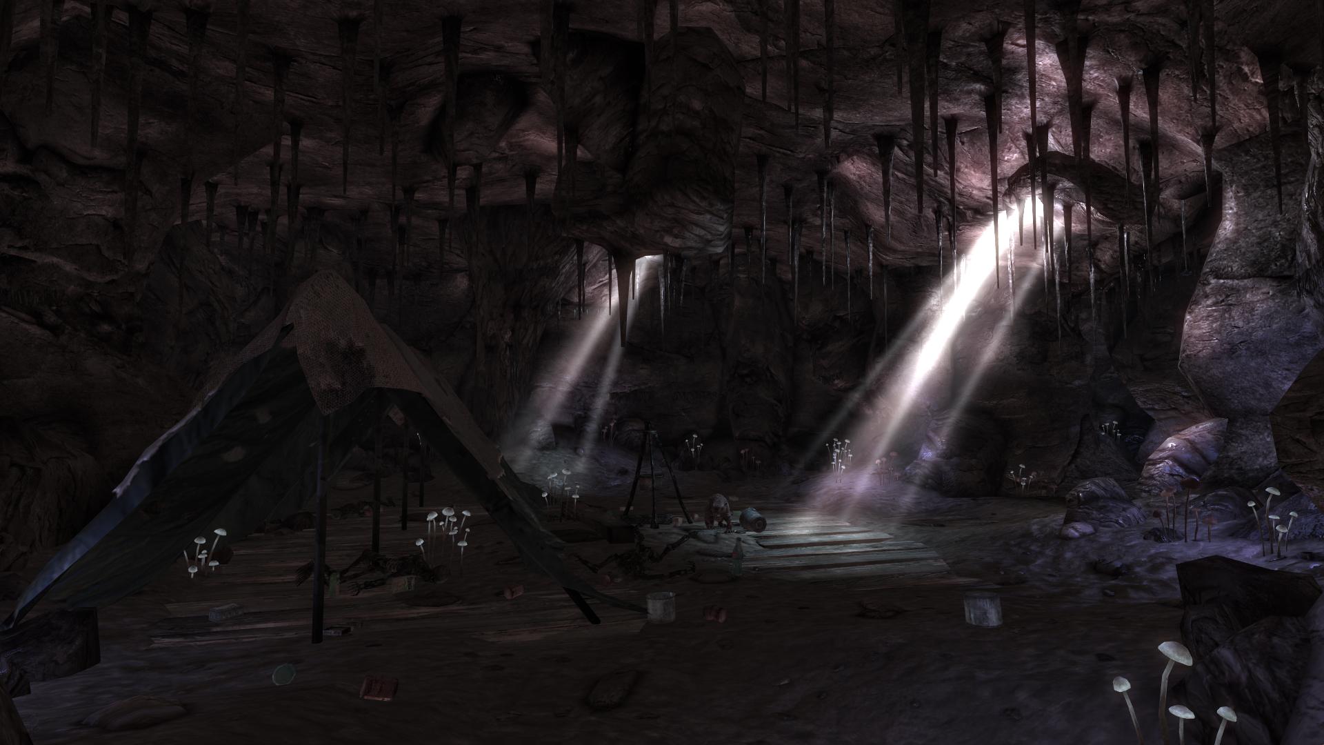 Sweet Flower Cave interior