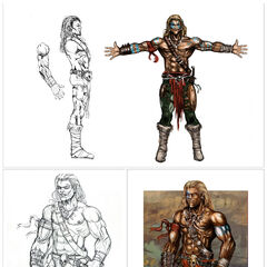 Male Tribal concept art from <i><a href=