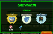 Death Revealed Quest Rewards