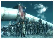 Generał chase z żołnierzami