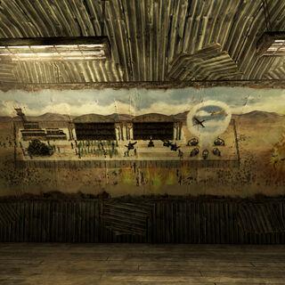 Фреска із зображенням історії Бомбістів
