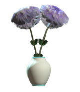 Glass barrel teal vase