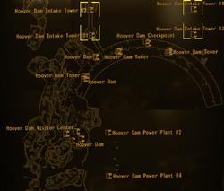 Hoover Dam intake tower map