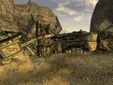 Canyon wreckage