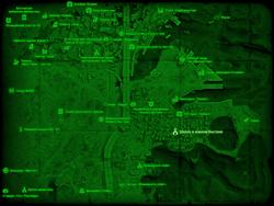 FO4 Школа в южном Бостоне (карта мира)