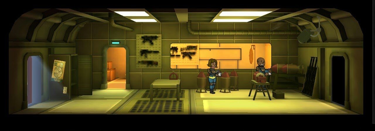 Falloutshelter armory 2room lvl1