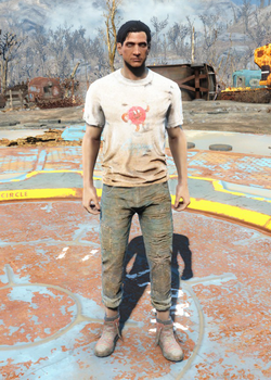 Fo4 Cappy Shirt and Jeans