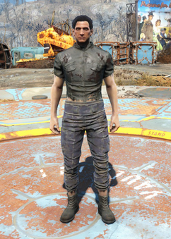 Fo4 Torn Shirt and Ragged Pants