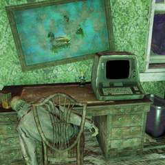 Potential Vault-Tec bobblehead location, upstairs in house.